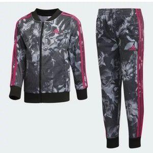 GIRLS TRAINING Adidas Floral Jacket & Pants Set